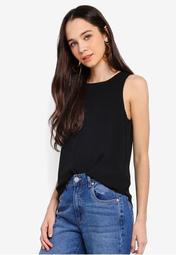 Cotton On black Ella Tank Top 10D2EAAA16356BGS_1