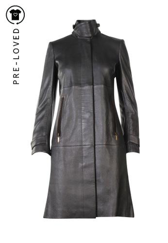 Loewe brown Pre-Loved loewe Vintage Leather Long Coat 8FBC8AAE9E2577GS_1