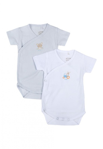 Chicco blue Set of 2 Bodysuits with Sweet Pattern B1BEEKA5856B31GS_1