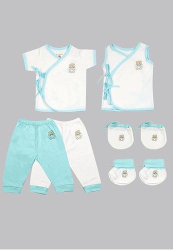 Tiny Tummies white Tiny Tummies Tie Side, Pajama, Mittens & Booties (Print) BF790KA2914B08GS_1