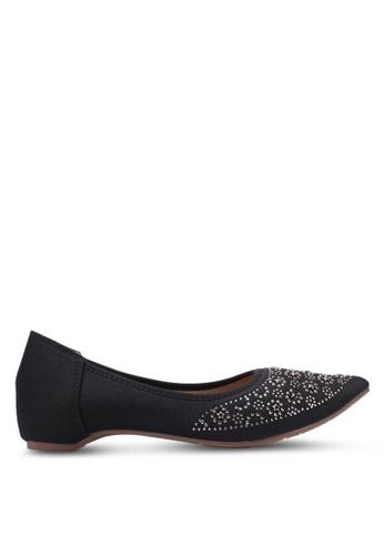 Spiffy black Star Studded Flats SP352SH0S6DXMY_1