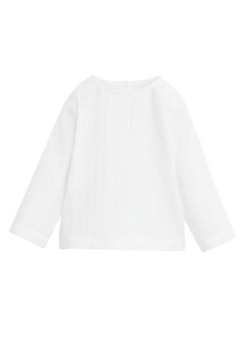 MANGO BABY white Rib Textured T-shirt 69B4DKACB2E900GS_1