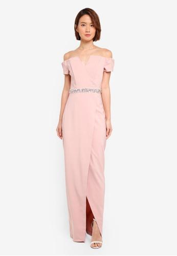 Buy Miss Selfridge Bardot Embellished Maxi Prom Dress Online
