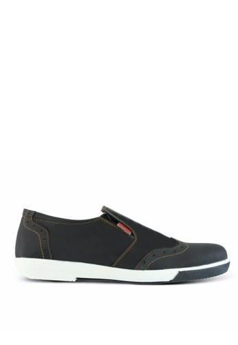 Sogno black Sepatu Slip On Pria GF.7018 FFCAESH130C2E3GS_1