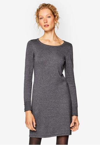 ESPRIT grey Fkat Knitted Midi Dress 8015AAA6866719GS_1