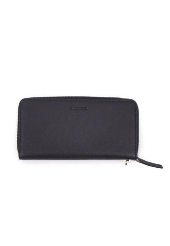 Rad Russel black Leather Zip Around Wallet - Black B8FF9ACA2BF1C4GS_1