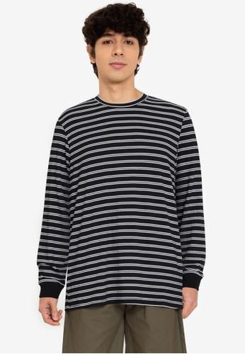 ZALORA BASICS multi Striped Long-Sleeve T-Shirt C4229AACD4204AGS_1