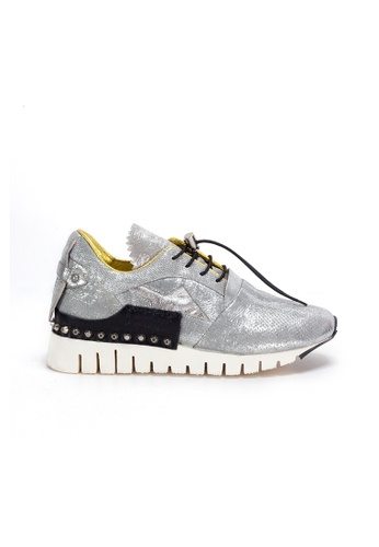 Shu Talk silver A.S.98 HOT Stud Easy Straps Stylish Sneakers F4A0CSH467D9BCGS_1