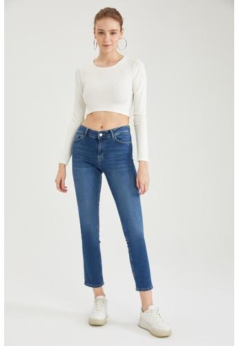 DeFacto blue High Waist Straight Jeans FF9BAAAE90C221GS_1