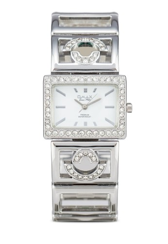 Omax OAB204Sesprit分店 方框晶鑽鍊錶, 錶類, 淑女錶