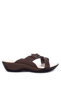 5dfe000b1a73 BANDOLINO brown Camil Flat Slides 5134FSH7FA61EDGS 1