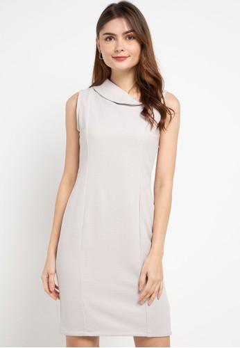 Chanira beige Lexi Dress B36BCAA335E61FGS_1