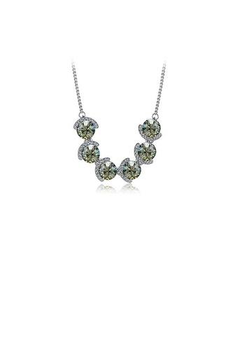 Glamorousky silver Elegant Gray Crystal Necklace (40cm) C10DAACD0BE38CGS_1
