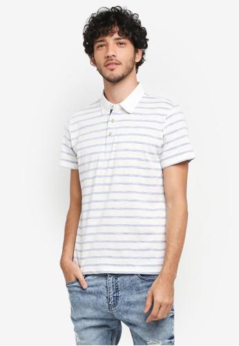 JAXON blue Stripe Polo Shirt 3D8EDAAA61DE9CGS_1
