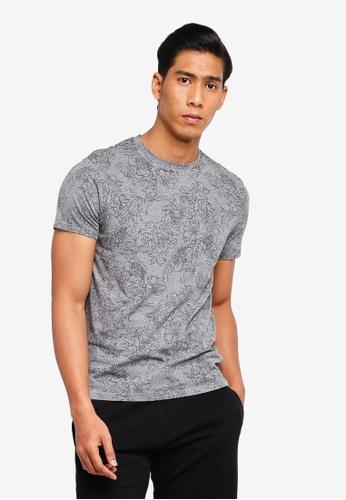 OVS 灰色 花卉T恤 37513AADBE5196GS_1