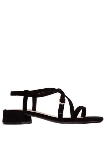 Twenty Eight Shoes 黑色 氣質小踭涼鞋3376-13 70964SH63DDEA6GS_1