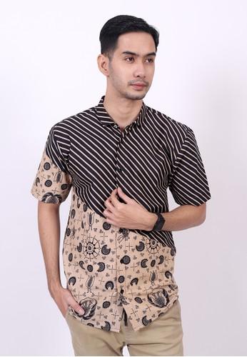 ENOM black and brown Gahyaka Shirt D27CAAA473BF99GS_1