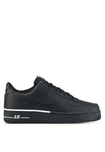 Nike black Men's Nike Air Force 1 '07 Shoes NI126SH0STRWMY_1