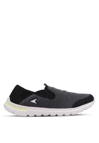 Power grey Sports Lifestyle Slip On Shoes PO160SH0RY7HMY_1