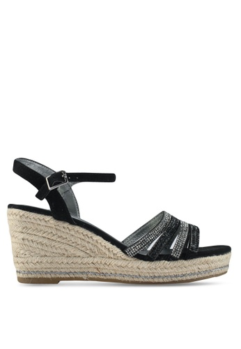 Dorothy Perkins Black 'Riley' Wedge Sandals