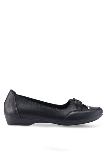 Louis Cuppers black Bow Loafers 90C86SH25F1A60GS_1