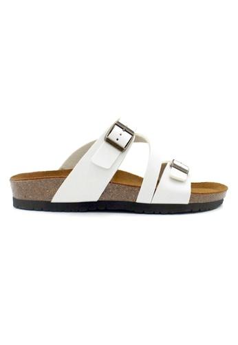 SoleSimple 白色 Hamburg - 白色 百搭/搭帶 軟木涼鞋 41EF8SHF120165GS_1