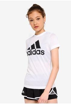27800df28d00 adidas white adidas performance w mh bos tee D55C2AA67AA7A9GS_1