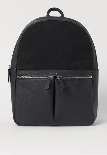 H&M black Backpack 987DDAC9635737GS_1
