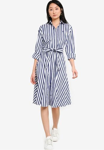 Stripe Cotton Shirt Dress
