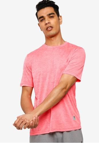 UniqTee pink Slim Crew Neck Tee EBBD6AA2EB5C30GS_1