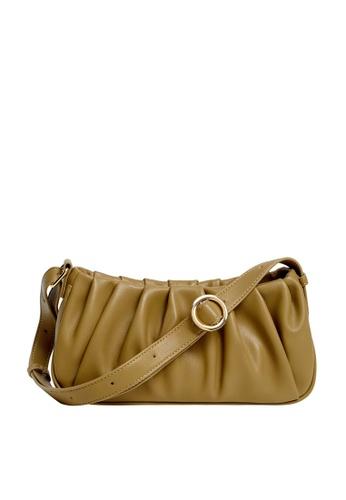 Violeta by MANGO beige Pleats Baguette Bag 91C40AC8A2EA55GS_1