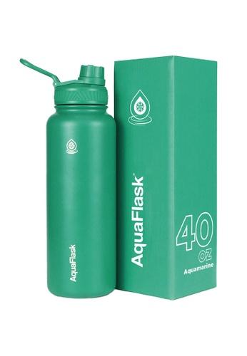 Aquaflask green 40oz Wide Mouth Water Bottle 9574DACE77ADA8GS_1