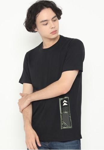 XTRAORDINARY (XO) black Graphic Cotton Combed Fashion Tee 3EBACAA14A353AGS_1