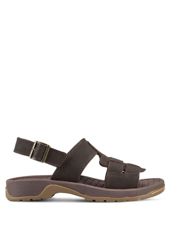 Dr. Martens brown Wharf Fisherman Sandals DR086SH14FRTMY_1