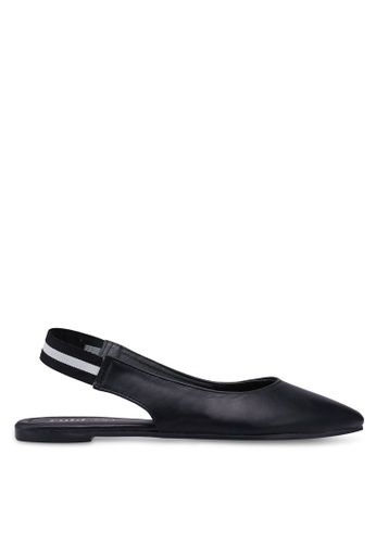 Rubi black Sasha Slingback Point Flats C709CSH6A863B5GS_1