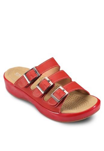 esprit香港門市三重針扣帶厚底休閒涼鞋, 女鞋, 涼鞋