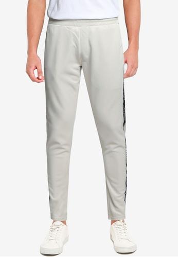 JACK & JONES grey Twill Taping Sweatpants 42BA8AAD38FB80GS_1