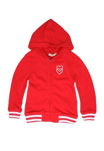 FOX Kids & Baby red Baby Girl Hoodie Jacket 5ECA3KAAF4A21BGS_1