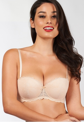 Triumph beige Fashion Wired Push Up Bra with Detachable Straps TR217US0FKV2SG_1