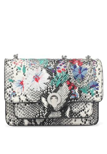 Mango grey Embroidery Snake-Effect Bag 04679AC45870A3GS_1