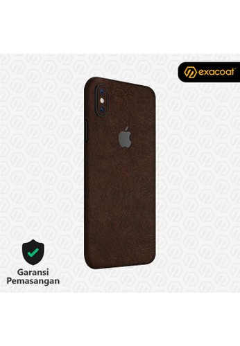 Exacoat iPhone XS Skins Leather Brown - Cut Only FABB7ESFE06A1EGS_1