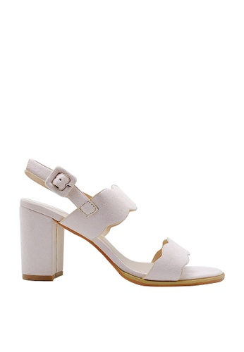 CO BLANC pink CO BLANC Dual Strap Slingback Scalloped Sandals 76ADDSH84737A1GS_1