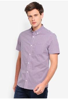 65ad82468a736 Burton Menswear London red Red Short Sleeve Blue House Check Shirt  3DAC1AA90DC6F6GS_1