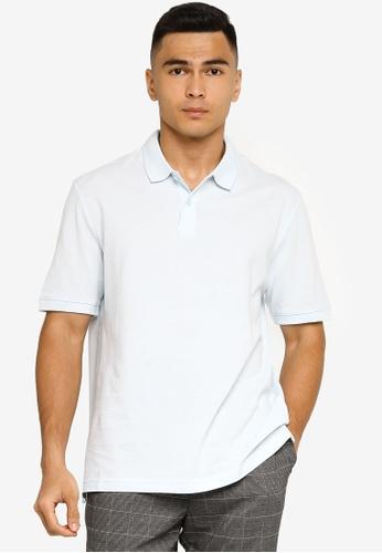 H&M blue Cotton Polo Shirt C7287AA66EF470GS_1