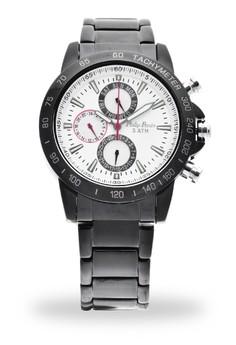 Analog Watch 2567BK-WB-RD-Hand