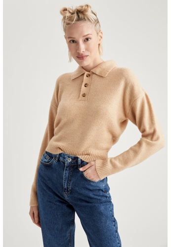 DeFacto beige Woman Tricot Pullover F64CBAAF84916DGS_1