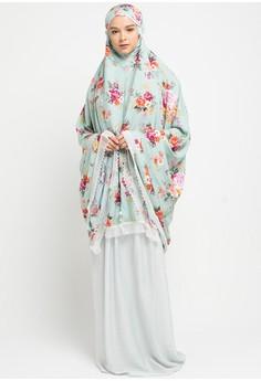 Aira Muslim Butik green and multi Mariana Prayer Set EF681AA2BD1190GS 1 d619480ddc