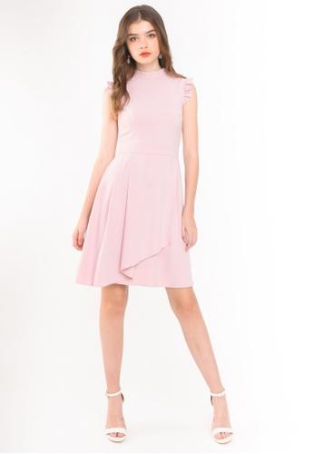 L'zzie pink LZZIE WITTEL DRESS - PINK 71AC6AAD24FF31GS_1