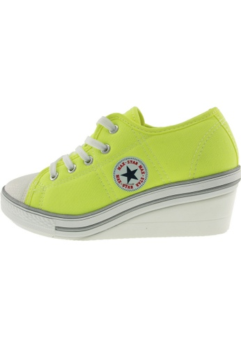 Maxstar Maxstar Women's ZL 5 Holes Canvas Low Wedge Heel Sneakers US Women Size MA168SH62ZUFHK_1