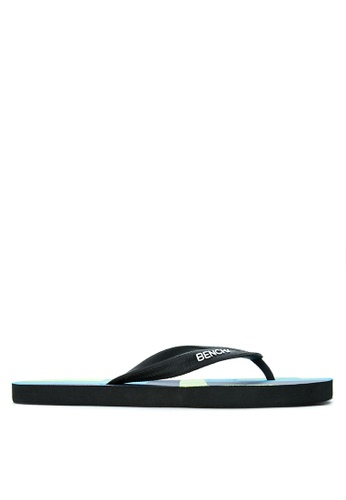 BENCH blue Printed Rubber Slippers BE550SH06MBHPH_1